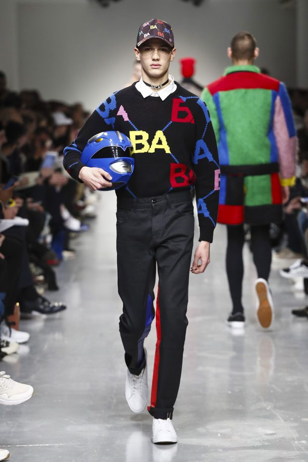 Bold is better! Check out Bobby Abley's initialed knits.
