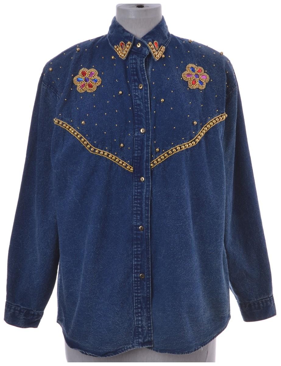 Sequin Denim Shirt